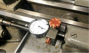 South Bend 16 metal lathe, carriage dial indicator STOP!