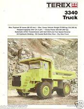 Equipment Brochure - Terex - 3340 - Off-Road Mining Dump Truck - 1995 (E1941)