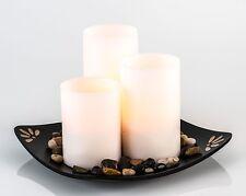 LED Kerzen Set flackerndes Licht Kunststoff Wachs Dekoration Carre Höhe 26 cm 1x