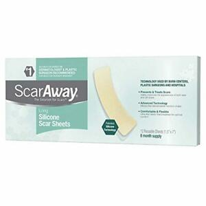 ScarAway Long Silicone Scar Treatment Sheets, Ideal for Larger and Longer Scars,