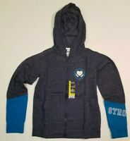 GIRLS HOODIE BLUE STRONG HEART XS and LARGE Jogger Athletic Works NWT SHIPS FAST