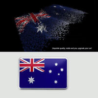 2PCS Australian Flag Moto Car 3D Aussie Metal Decal Badge Emblem Stickers