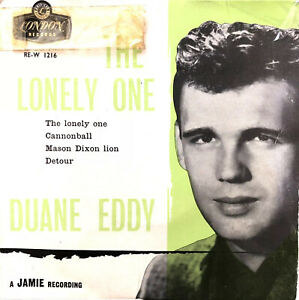 """DUANE EDDY THE LONELY ONE 1958 LONDON 7"""" VINYL RECORD 4 TRACK EP PLAY TESTED"""