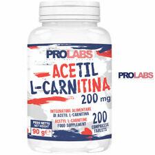 PROLABS Acetil L-Carnitina 200 cps da 200 mg Carnitina Brucia Grassi Dimagrante