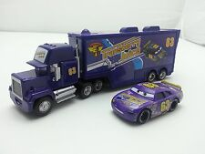 Disney Pixar Car No.63 Mack Racer's Truck & Transberry Juice Toy Car 1:55 Loose