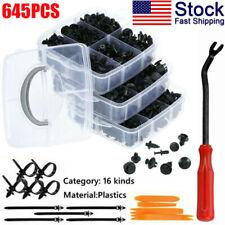 645Pcs Car Auto Push Retainer Clips Fasteners Set Trim Pin Rivet Bumper Kit USA