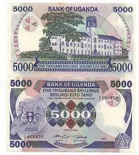 UGANDA 5000 SHILLINGS 1985 PICK 24 A UNC-
