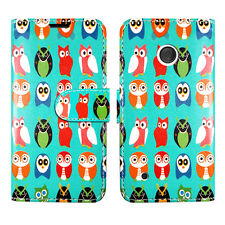 PU Leather Flip Wallet Book Card Holder Case Cover Pouch for Nokia LUMIA 530 Birds on Green - Many Group Lots Wildlife Multiple
