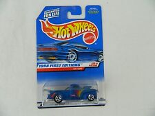 NEW 1998 First Editions Hot Wheels #654 Blue 40 Ford Truck Diecast Car