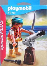 Playmobil Special Plus 5378 Pirat Seeräuber mit Säbel Kanone und Munition  NEU