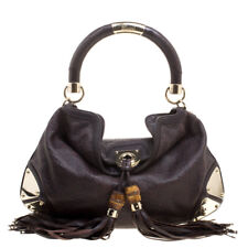Authentic Gucci Dark Brown Guccissima Leather Indy Bag retail price $2,590