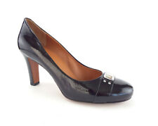 MARC JACOBS Size 8.5 Black Patent Round Toe Pumps Heels Shoes 39