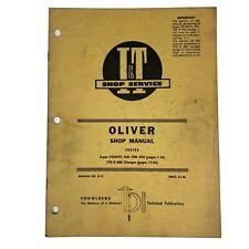 Oliver Shop Service Manual Iampt Series Model 99gmtc 950 990 995 770 880 No 0 13