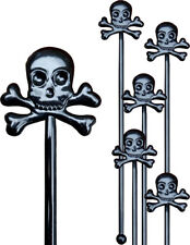 Skull Halloween Cocktail Drink Stirrers / Swizzle Sticks (10 Supplied)