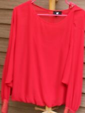 Woman's Red Blouse by IZ Byer; Size:  L