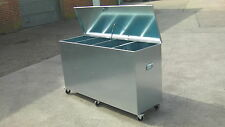 Horse Feed 4 Compartment on WHEELS Animal feed Storage Galvanised Steel (m4c)