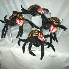 Ty Beanie Babies Lot of 4 Spinner #4036 Spider 1996 Retired  3+Boy Girl $24.99