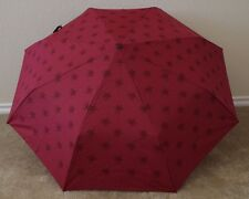 COACH Star Canyon Retractable Umbrella F64133, SV/Cranberry