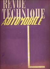 REVUE TECHNIQUE AUTOMOBILE 29 RTA 1948 ETUDE MOTEUR DIESEL CLM