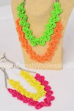 4 PC Seed Bead Braid Fashion Necklaces Costume Jewelry Wholesale Lot 4 Necklaces