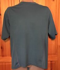 REI Men's Large Short Sleeve Athletic Tee Shirt Blue and Black