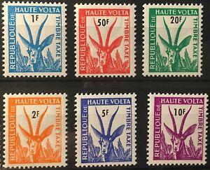 Burkina Faso stamps 1962 SC J21-J26 MNH very fine