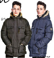 NEW Boys WARM Padded Bomber Jacket Black School Coat Winter Age 7 8 9 10 11 12 E