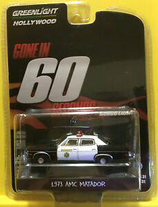 Chase Greenlight 1:64 Hollywood 31 Gone in 60 Seconds 73 AMC Matador Police