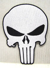"PUNISHER WHITE SKULL LOGO 7"" EMBROIDERED JACKET PATCH (PUPA-JP01)"