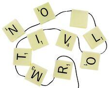 Officiel Rétro Fil Scrabble Lettres Pendant Lumières - Fée Lampe En Boîte Cadeau