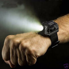 Tactical Rechargeable R2 LED Light Sporting Wrist Watch Flashlight With Compass
