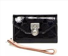 MICHAEL Michael Kors iPhone 4s Wristlet Leather Wallet Clutch, Black.