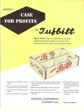 Pepsi-Cola Wood Case Original Ad Flyer From Gideon-Anderson Lumber Gideon Mo.