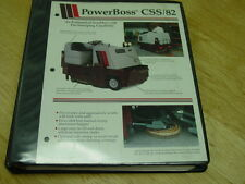 PowerBoss Industrial Sweeper/Scubber Armadillo Model Css 82 Maint/Troubleshoot