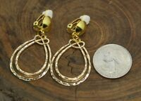 CLIP ON EARRINGS, GOLD COLOR, CONTMEPOLARY DESIGN, HANDMADE