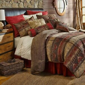 Sierra Chenille Rustic Faux Suede Western Country King 6-Piece Bed Set