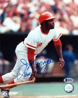 JOE MORGAN SIGNED AUTOGRAPHED 8x10 PHOTO + HOF 90 REDS LEGEND BECKETT BAS
