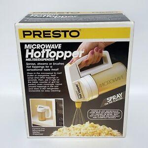 Vintage Presto Microwave Hot Topper 03050 Butter Dispenser Melter NOS Sealed