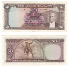 More details for turkey 50 lira banknote (1960) p.166 - vf+/aef.