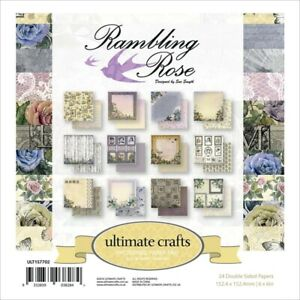 Rambling Rose 24 Dbl Sided Sheets of 6x6 Patterned Craft Papers Florals & More