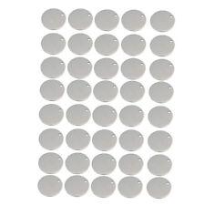 Slogan wählbar silberfarben - Ø 30 mm Message Anhänger Edelstahl 1 Stk