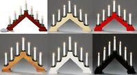 Wooden Candle Bridge Light 7 Bulb Window Christmas Decoration Arch Bridge Light