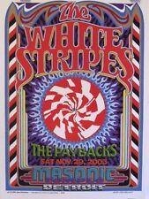 White Stripes   Detroit   Art by Gary Grimshaw - Orig. 2003 Concert Poster