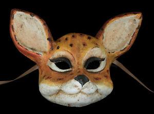Masque de Venise Vénitien biche faon fait main en papier Mâché Unique 22621 VPM4