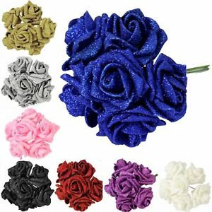 6-36 Full Glittered Foam Roses! BIG DISCOUNTS! Artificial Fake Flowers