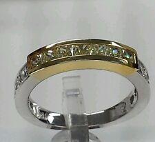 14k yellow and white gold 0.80ct,yellow& white diamonds engagement &wedding band