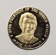 1977 Jimmy Carter 39th President Inaugural 10K Genuine Gold Medal 2.5 Grams