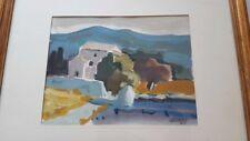 """""""La Bastide 1985""""  Peinture signée.   Painting signed style Chabaud provence"""