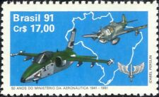 Brazil 1991 Fighter Planes/Aircraft/Military/Aviation/Transport 1v (n25829)