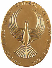 U.S.A. Society of Medalists 91 PRISON WALLS - FLIGHT OF SOUL By Frederick Shrady
